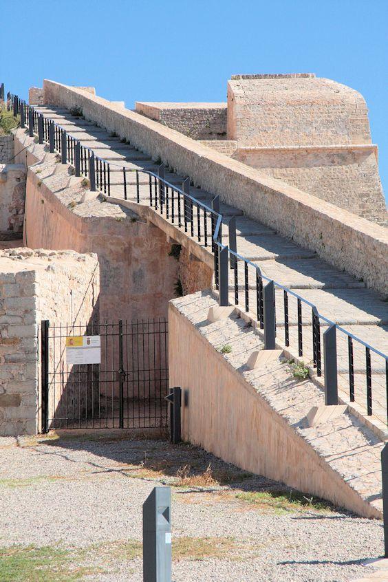 auf der Festungsmauer