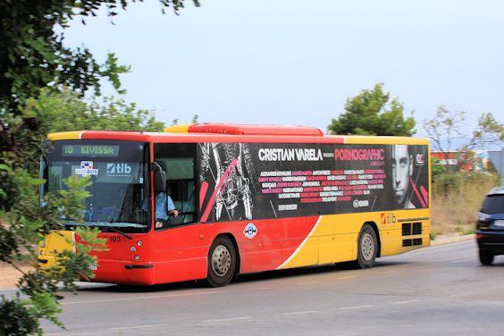 Bus auf Ibiza