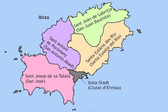 Gemeinden Ibizas