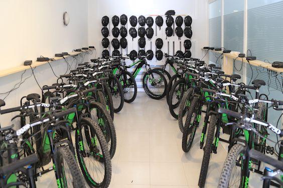 Laderaum für Elektrofahrräder