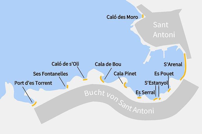 Karte_Strande_Sant Antoni